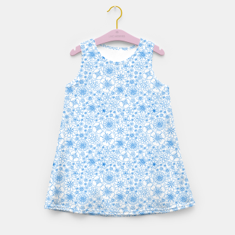 Thumbnail image of Wild Flowers - floral pattern blue Girl's summer dress, Live Heroes