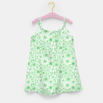 Thumbnail image of Wild Flowers - floral pattern green Girl's dress, Live Heroes