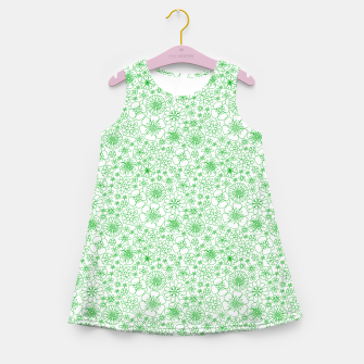 Thumbnail image of Wild Flowers - floral pattern green Girl's summer dress, Live Heroes