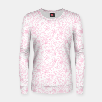 Thumbnail image of Wild Flowers - floral pattern pink Women sweater, Live Heroes