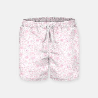 Thumbnail image of Wild Flowers - floral pattern pink Swim Shorts, Live Heroes