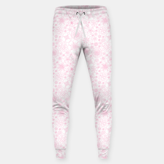 Thumbnail image of Wild Flowers - floral pattern pink Sweatpants, Live Heroes