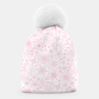 Thumbnail image of Wild Flowers - floral pattern pink Beanie, Live Heroes