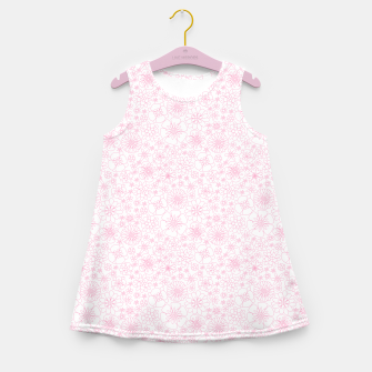 Thumbnail image of Wild Flowers - floral pattern pink Girl's summer dress, Live Heroes