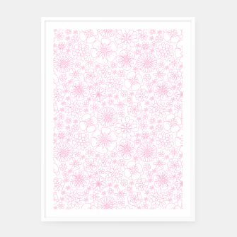 Thumbnail image of Wild Flowers - floral pattern pink Framed poster, Live Heroes