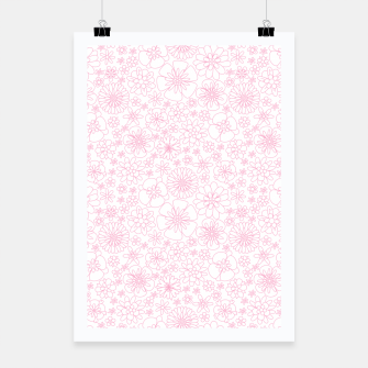 Thumbnail image of Wild Flowers - floral pattern pink Poster, Live Heroes