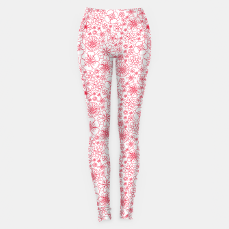 Miniature de image de Wild Flowers - floral pattern red Leggings, Live Heroes