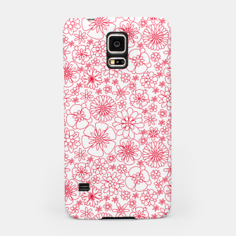 Thumbnail image of Wild Flowers - floral pattern red Samsung Case, Live Heroes