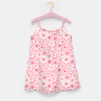 Thumbnail image of Wild Flowers - floral pattern red Girl's dress, Live Heroes