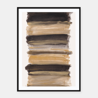 Miniatur Abstract Minimalism Brushstrokes #2 #minimal #ink #decor #art Plakat mit rahmen, Live Heroes