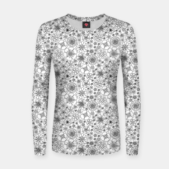 Miniatur Wild Flowers - floral pattern black Women sweater, Live Heroes