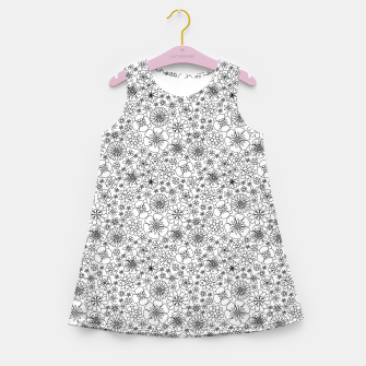 Thumbnail image of Wild Flowers - floral pattern black Girl's summer dress, Live Heroes