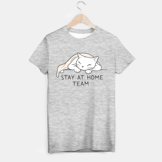 Miniatur Join White Kitty Stay at Home Team T-shirt regular, Live Heroes