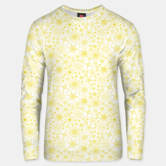 Miniatur Wild Flowers - floral pattern yellow Unisex sweater, Live Heroes