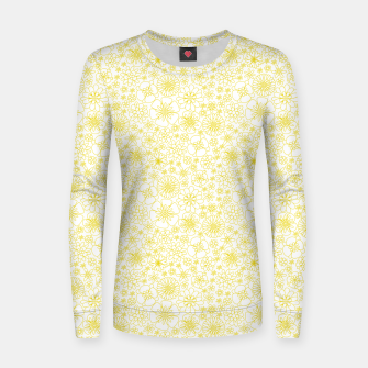 Miniatur Wild Flowers - floral pattern yellow Women sweater, Live Heroes
