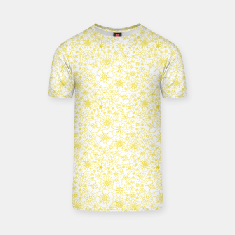 Miniatur Wild Flowers - floral pattern yellow T-shirt, Live Heroes