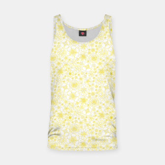 Miniatur Wild Flowers - floral pattern yellow Tank Top, Live Heroes