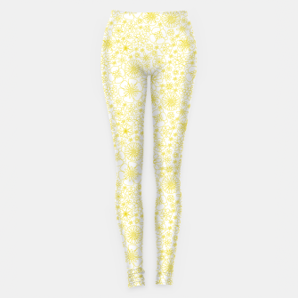 Miniature de image de Wild Flowers - floral pattern yellow Leggings, Live Heroes