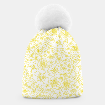 Miniatur Wild Flowers - floral pattern yellow Beanie, Live Heroes