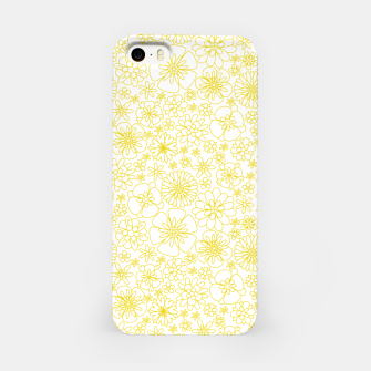 Miniaturka Wild Flowers - floral pattern yellow iPhone Case, Live Heroes