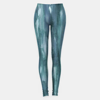 Miniature de image de Touching Teal Blue White Watercolor Abstract #1 #painting #decor #art  Leggings, Live Heroes