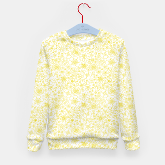 Miniatur Wild Flowers - floral pattern yellow Kid's sweater, Live Heroes