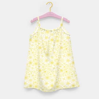 Miniatur Wild Flowers - floral pattern yellow Girl's dress, Live Heroes