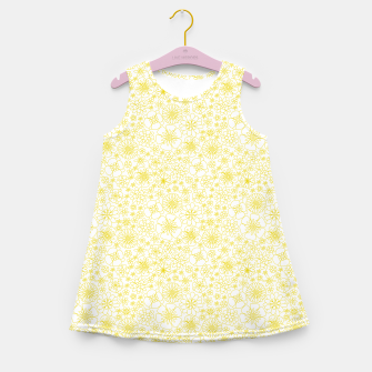 Thumbnail image of Wild Flowers - floral pattern yellow Girl's summer dress, Live Heroes