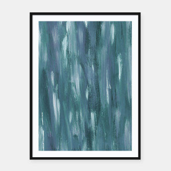 Miniatur Touching Teal Blue White Watercolor Abstract #1 #painting #decor #art  Plakat mit rahmen, Live Heroes