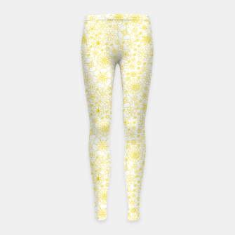 Thumbnail image of Wild Flowers - floral pattern yellow Girl's leggings, Live Heroes