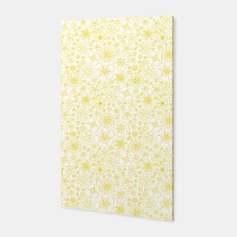Miniatur Wild Flowers - floral pattern yellow Canvas, Live Heroes