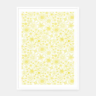 Miniaturka Wild Flowers - floral pattern yellow Framed poster, Live Heroes