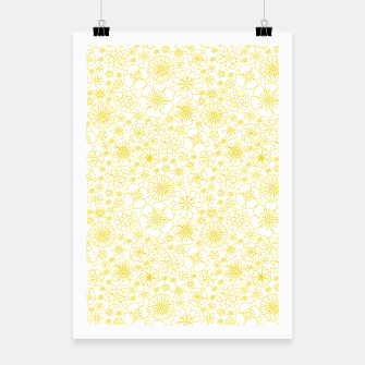Miniatur Wild Flowers - floral pattern yellow Poster, Live Heroes