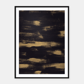 Miniatur Brushstrokes Abstract Minimalism #3 #minimal #decor #art Plakat mit rahmen, Live Heroes