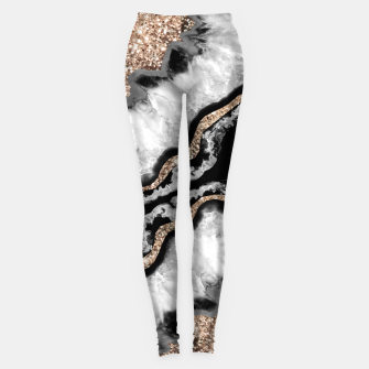 Miniature de image de Yin Yang Agate Glitter Glam #8 #gem #decor #art Leggings, Live Heroes