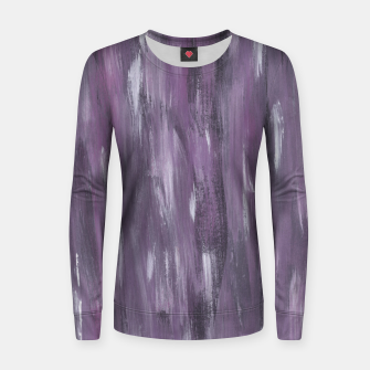 Thumbnail image of Touching Purple Black White Watercolor Abstract #1 #painting #decor #art Frauen sweatshirt, Live Heroes
