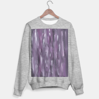 Thumbnail image of Touching Purple Black White Watercolor Abstract #1 #painting #decor #art Sweatshirt regulär, Live Heroes