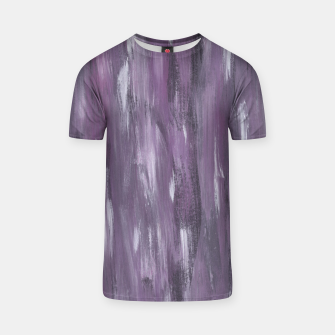 Thumbnail image of Touching Purple Black White Watercolor Abstract #1 #painting #decor #art T-Shirt, Live Heroes