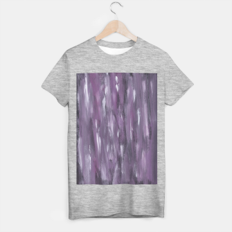Thumbnail image of Touching Purple Black White Watercolor Abstract #1 #painting #decor #art T-Shirt regulär, Live Heroes