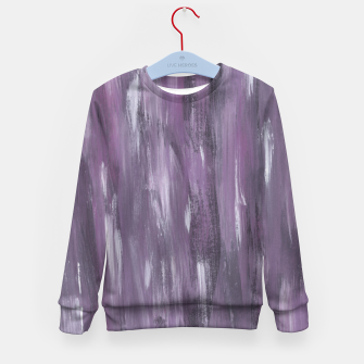 Thumbnail image of Touching Purple Black White Watercolor Abstract #1 #painting #decor #art Kindersweatshirt, Live Heroes