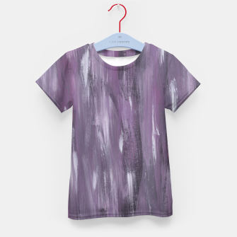 Thumbnail image of Touching Purple Black White Watercolor Abstract #1 #painting #decor #art T-Shirt für kinder, Live Heroes