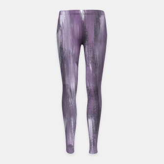 Thumbnail image of Touching Purple Black White Watercolor Abstract #1 #painting #decor #art Kinder-Leggins, Live Heroes