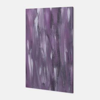 Thumbnail image of Touching Purple Black White Watercolor Abstract #1 #painting #decor #art Canvas, Live Heroes