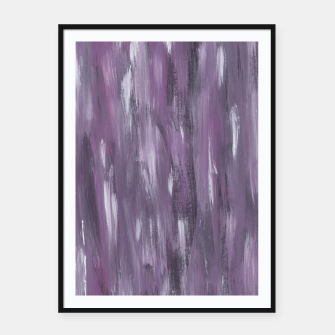 Thumbnail image of Touching Purple Black White Watercolor Abstract #1 #painting #decor #art Plakat mit rahmen, Live Heroes