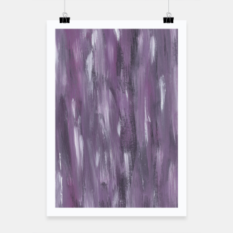 Thumbnail image of Touching Purple Black White Watercolor Abstract #1 #painting #decor #art Plakat, Live Heroes