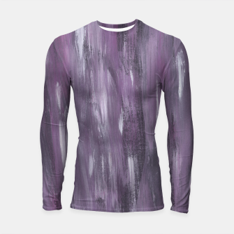 Thumbnail image of Touching Purple Black White Watercolor Abstract #1 #painting #decor #art Longsleeve rashguard, Live Heroes