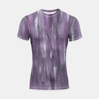 Thumbnail image of Touching Purple Black White Watercolor Abstract #1 #painting #decor #art Shortsleeve rashguard, Live Heroes