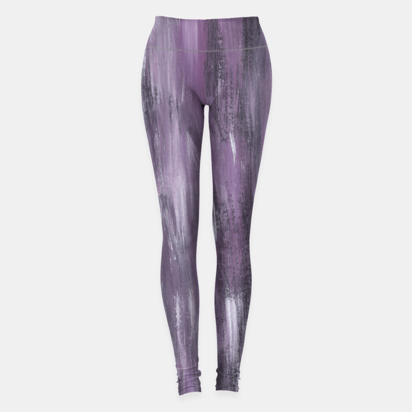 Zdjęcie Touching Purple Black White Watercolor Abstract #1 #painting #decor #art Leggings - Live Heroes