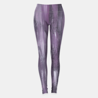Thumbnail image of Touching Purple Black White Watercolor Abstract #1 #painting #decor #art Leggings, Live Heroes
