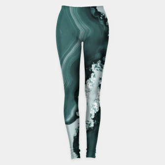 Miniature de image de Teal Agate Pattern #1 #gem #decor #art Leggings, Live Heroes